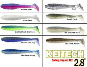 "Keitech Swing Impact FAT 2,8"" soft baits"