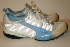 Womens Size 11 PUMA lite blue white silver sneaker shoes