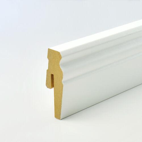 MDF PLINTHE D-profil 2,5m avec accessories facile installation 60 90 120 15 mm