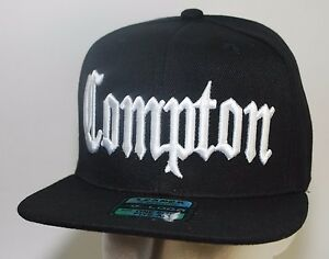 Compton-Snapback-LEADER-Hat-Baseball-Cap-Black