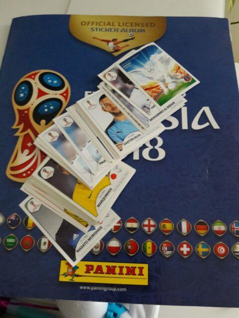 10 stickers au choix PANINI 2018 FIFA Coupe du Monde Russie