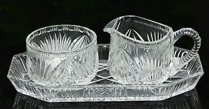 Alteres-Bleikristall-Milch-und-Zuckerset-mit-Tablett-3-teilig-um-1930