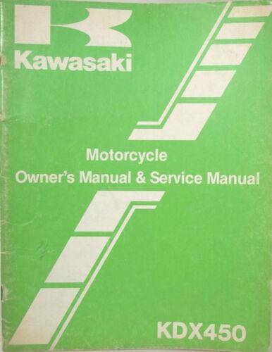 research.unir.net GENUINE KAWASAKI KDX450 1982 KDX OWNERS SERVICE ...