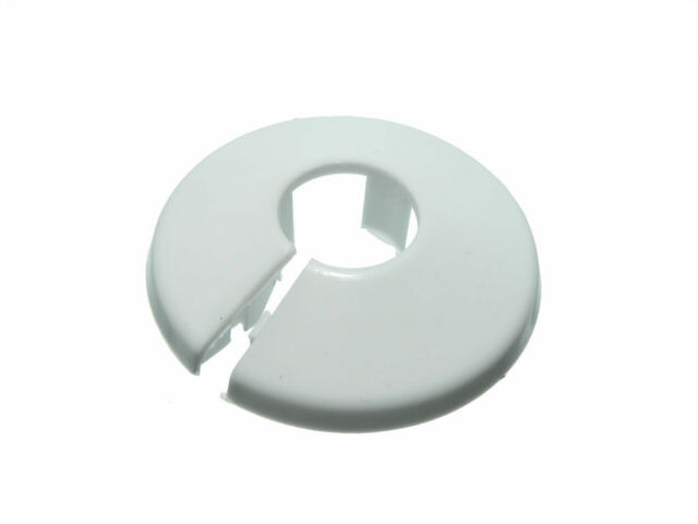 40 items of Plastic Pipe Rose Radiator Collar Anneau For 15Mm Pipes in White