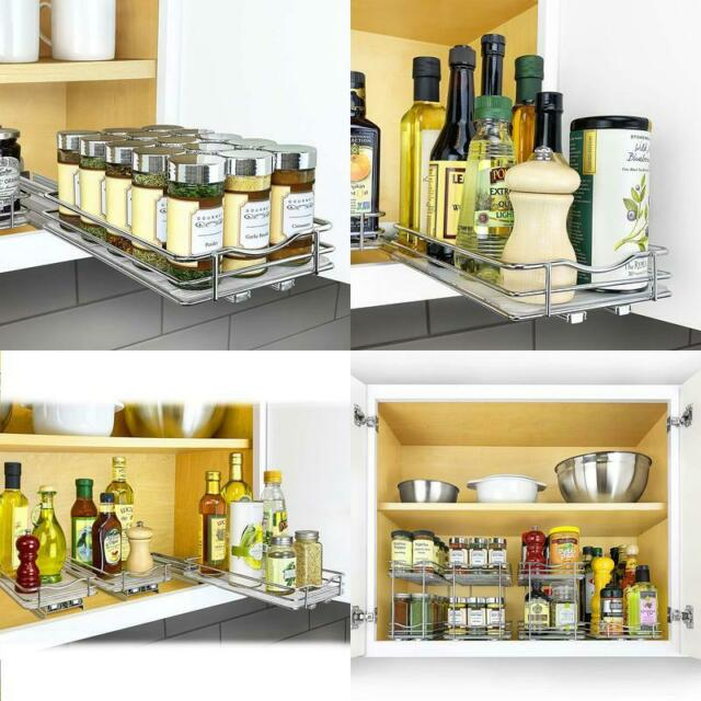 Lynk Professional Slide Out Spice Rack Kitchen Upper ...