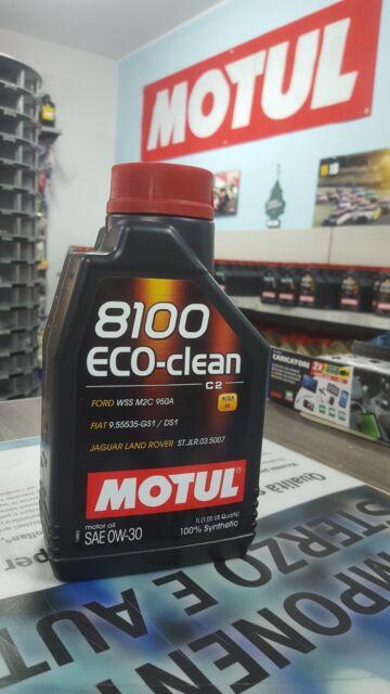 OLIO MOTORE MOTUL 8100 ECO-CLEAN 0W30 ACEA C2 API SN 1 LITRO FORD-JAGUAR-FIAT