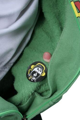 Dunkelvolk Rasta Logo Jamaica Fluorite Green Zip Up Hoodie NWT
