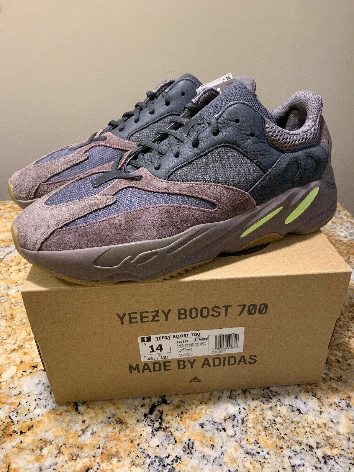 Adidas Yeezy Boost 700 Mauve Size 14 100% Authentic from Adidas