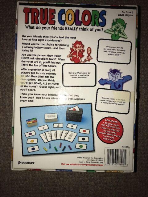 True Colors Board Game Pressman 2005 Complete Ebay