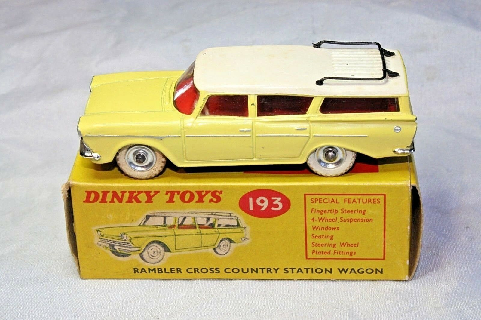 Dinky Dinky Dinky 193 Rambler Cross Country Station Wagon, superbe dans Comme neuf boîte d'origine | Impeccable  | à La Mode  | Up-to-date Styling  97a891