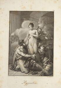 F-STOBER-1795-1858-BELLE-GRAVURE-PYGMALION-MYTHOLOGIE-NEOCLASSIQUE-EMPIRE-1815