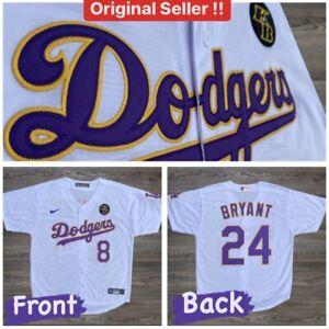 Kobe Bryant Jersey Custom Dodgers 8 24 Nike KB Patch Size S | eBay