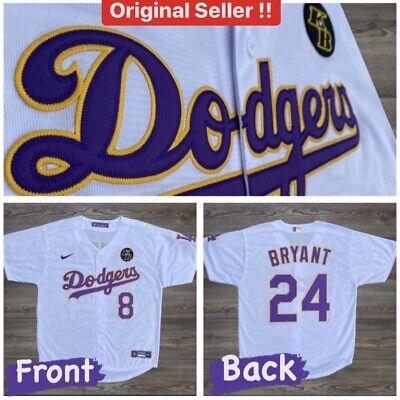 Kobe Bryant Jersey Custom Dodgers 8 24 Nike KB Patch Size S   eBay