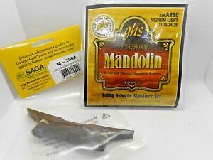 GHS A260 Med Lt Mandolin String Set & Golden Gate Adjustable Bridge