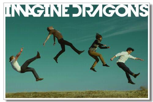 Poster Imagine Dragons Band Room Club Art Wall Cloth Print 201