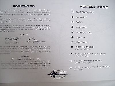 1963 Ford Falcon Mercury Comet wiring diagram 11X17 ...