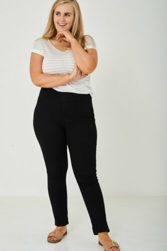 NEW Look CURVA Nero Jeggings Jeans Taglie Forti 20-28 Skinny Stretch