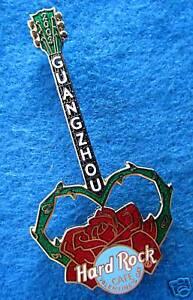 Guangzhou-China-D-A-SAN-VALENT-N-Individual-Rosa-Roja-Guitar-2003-Hard-Rock-Cafe