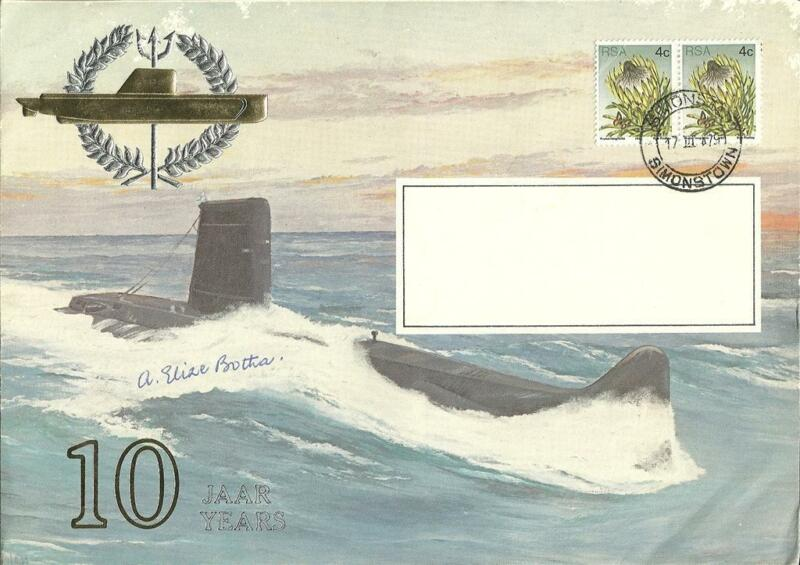 SA Navy First Day Covers (FDC) of Daphne Submarines - 10 year celebrations.
