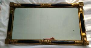Fine-antique-French-Empire-mirror-gold-black-leaf-frame
