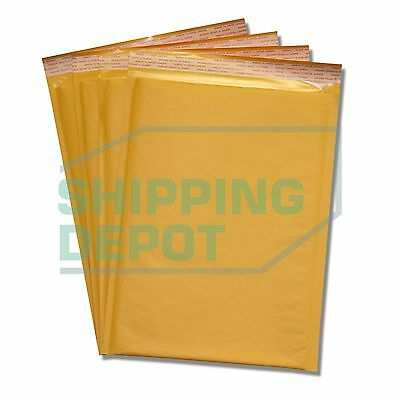 """200 #4 9.5x14.5 Kraft Paper Bubble Padded Envelopes Mailers Case 9.5/""""x14.5"""