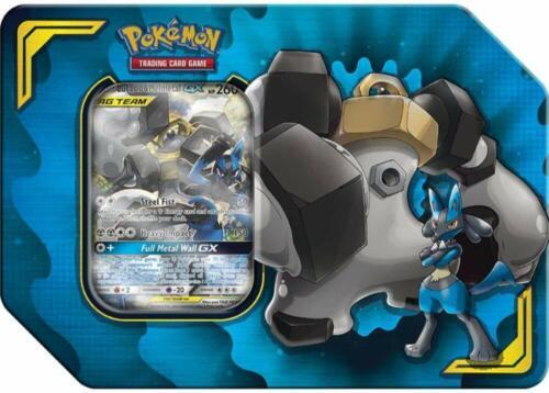 Pokemon TCG Power Partnership Tin Lucario /& Melmetal GX 4 Booster Packs Sealed