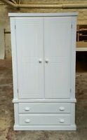 White Berkshire Bedroom Wardrobe With Cup Handles (assembled) No Flat-pack