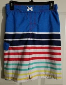 60646047f0 Details about New Boy's Cat & Jack Swimwear Swimsuit Board Shorts Swim  Trunks Size XL 16