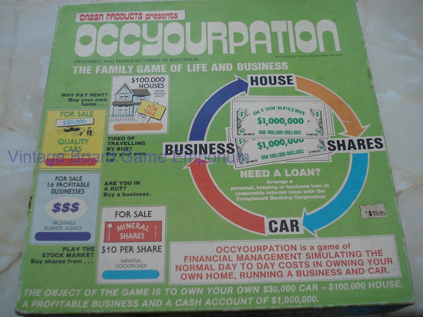 OCCYOURPATION GAME - OCCYOURPATION - CASSA - 1970'S - RARE GAME - FINANCIAL GAME
