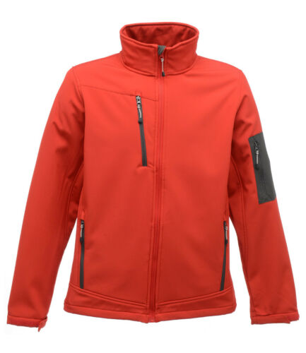 REGATTA 3 Layer Soft Shell Jacket Wind Resistant Breathable Showerproof RED