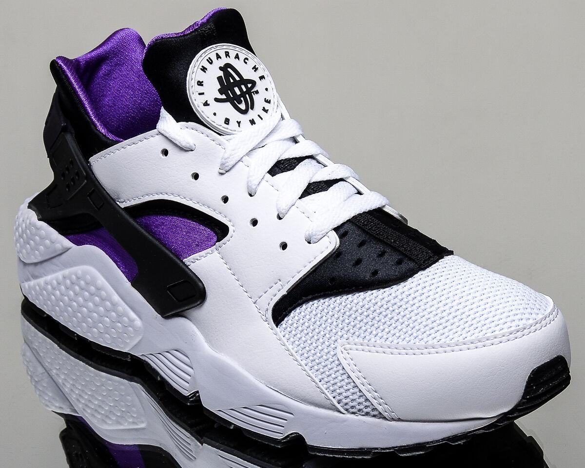 Nike Air Huarache men lifestyle casual sneakers NEW white hyper grape black
