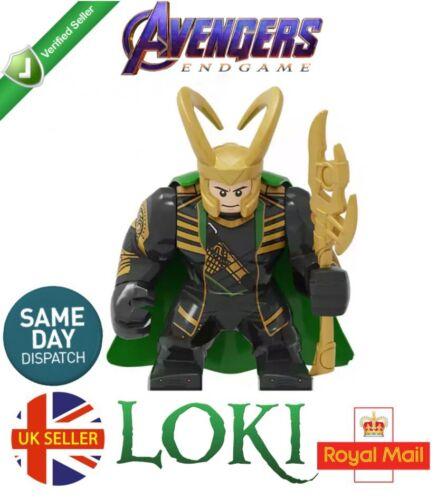 Loki GRANDE MINI FIGURA Marvel Avengers END GAME figlio di Odino Thor UK Venditore
