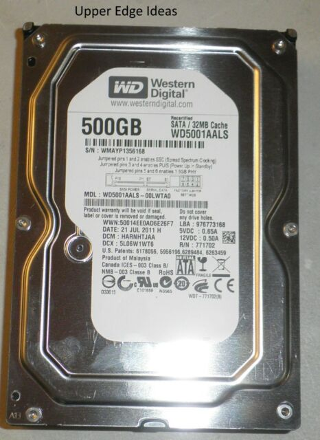 Western Digital 500GB Hard Drive HDD 3.5 WD5001AALS-00LWTA0