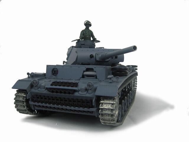 HengLong 1/16 German Panzer Carro Armato RC III L aggiornato in metallo Airsoft Sound 3848-1