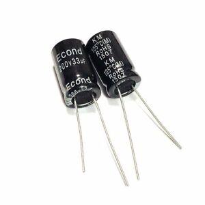 63v 33uf 63volt 33mfd 105c aluminum electrolytic capacitor 6×11mm