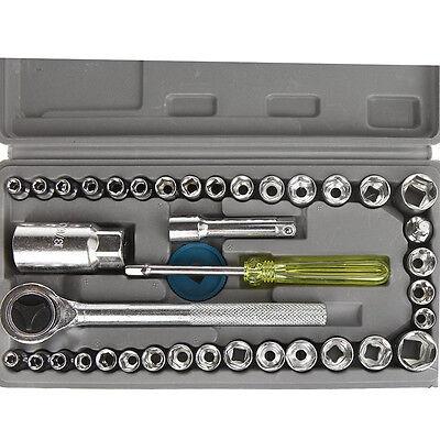 40pcs Socket Tool set 3/8 Drive Auto Boat Vehicle Car Repair Tool Kit Wrench Set