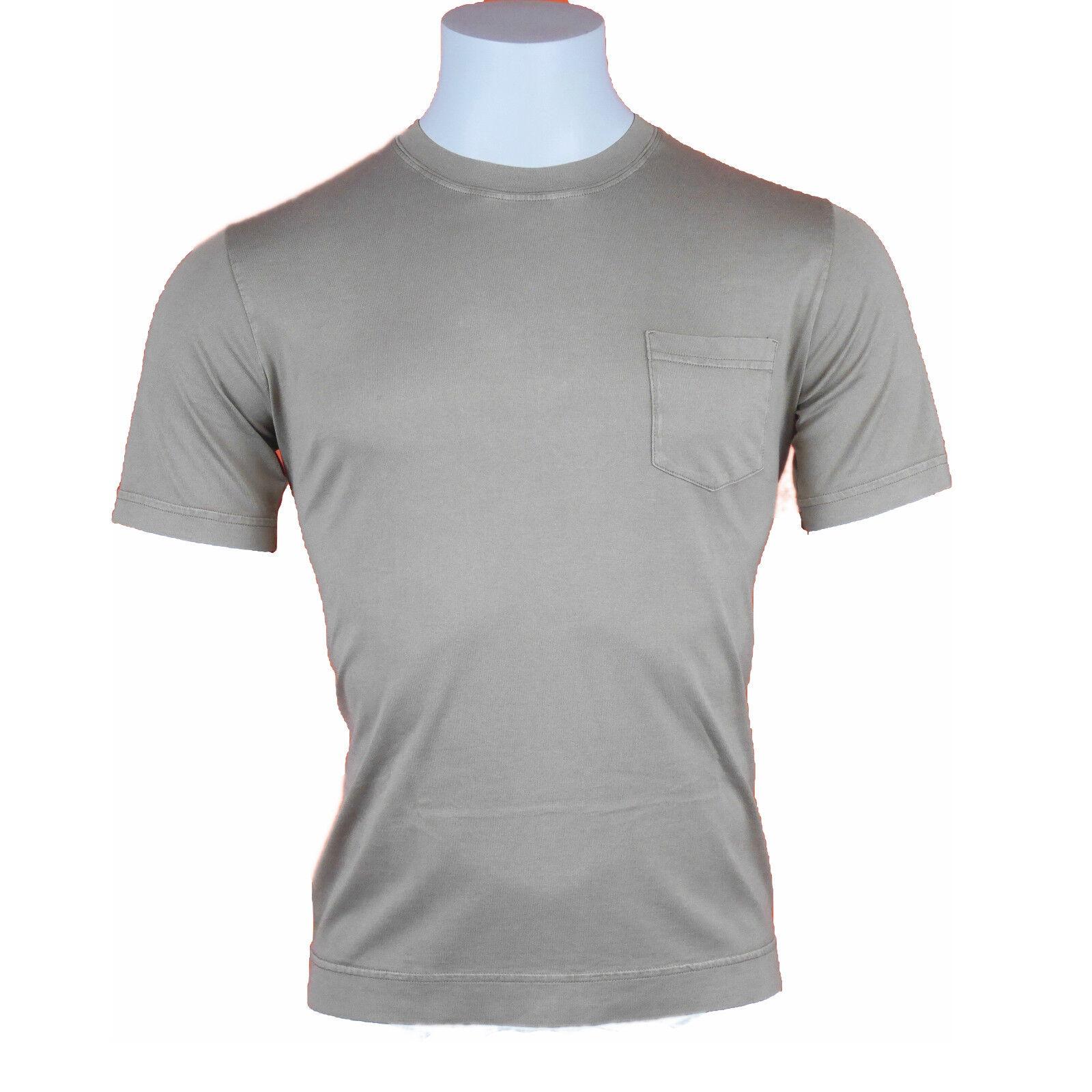 Fedeli Rundhals-Shirt Baumwolle brown kurzarm Gr. 50 (ehem. UVP  125,00)