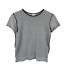 thumbnail 1 - Armani-Collezioni-Womens-Knit-Top-Size-12-Black-White-Made-in-Italy-Short-Sleeve