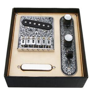Prewired-Tuning-Telecaster-Bridge-Platte-fuer-Telecaster-Gitarren-Teile
