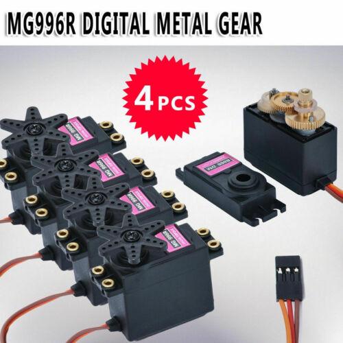 4pcs MG996R Digital Metal Gear MG995 Torque Servo for Futaba JR RC Truck Race UK