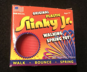 Original-Plastic-Slinky-Jr-2008-Toy-by-Poof-Slinky-Inc-Orange-Made-USA-New