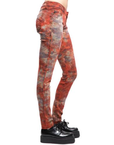 TRIPP PUNK EMO GOTHIC ROCKER RUST ART DYED CAMO STREET WASH JEAN PANTS IS8282H