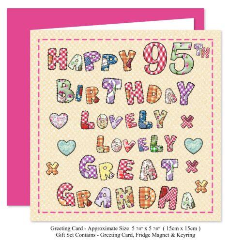 porte-clés Grand-mère Anniversaire Ensemble Cadeau-carte aimant 70-100 ans belle vous