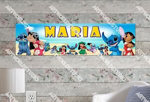 Personalized/C<wbr/>ustomized Lilo and Stitch Name Poster Wall Art Decoration Banner