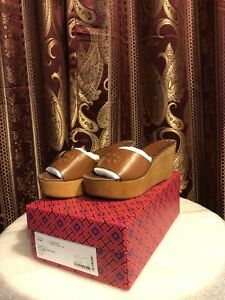 52fadf21d3a Image is loading Tory-Burch-Patty-80mm-Wedge-Slide-Sandals-Perfect-