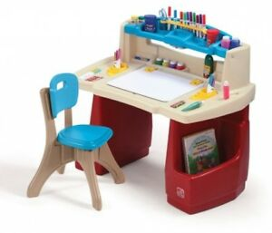Image Is Loading Children Painting Drawing Table Activity Desk With Chair