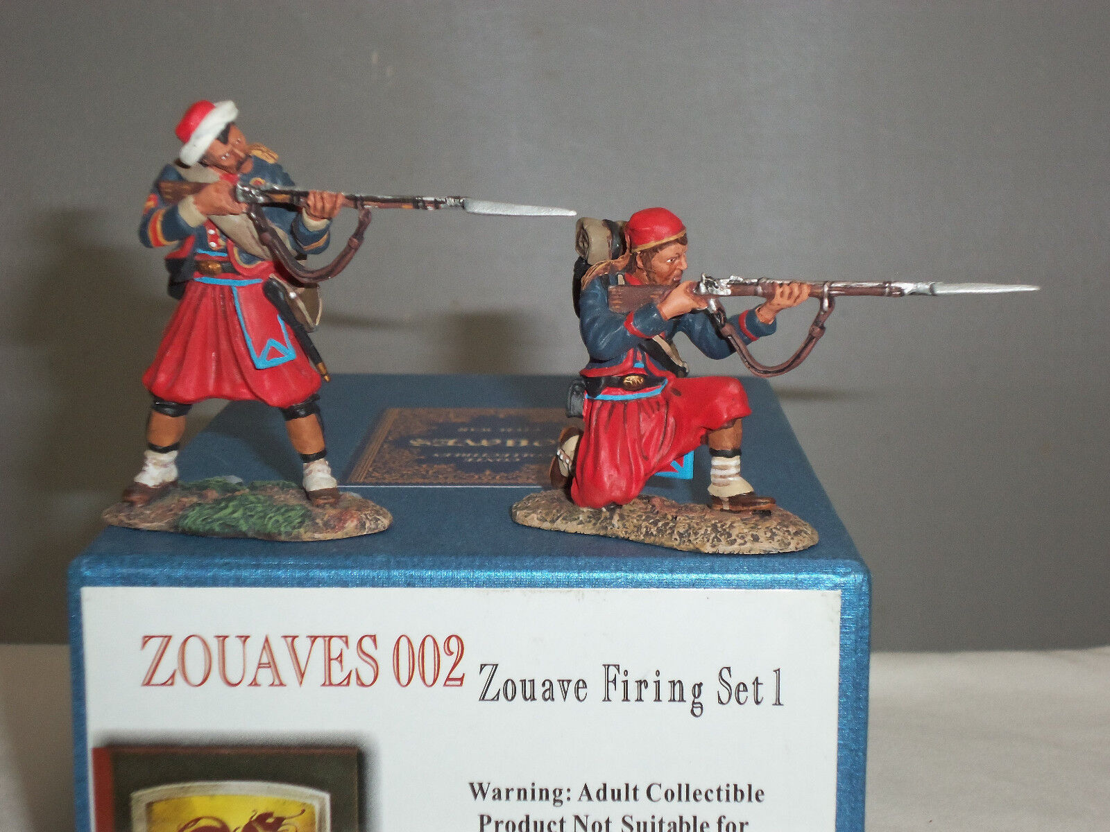 CONTE ZOUAVES002 ZOUAVE FIRING AMERICAN CIVIL WAR METAL TOY SOLDIER FIGURE SET 1
