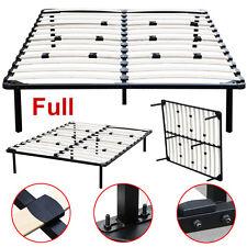 Full Size Wood Slats Metal Bed Frame Platform Bedroom Mattress Foundation Base