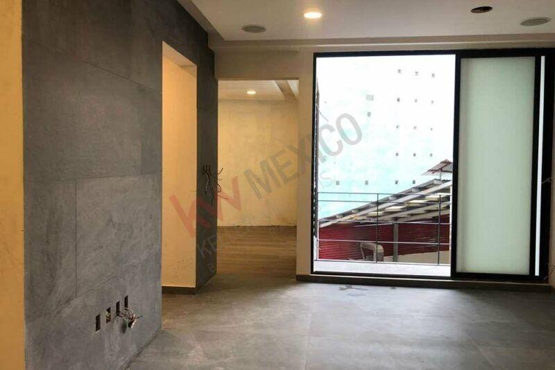 Pent House tipo Butique, Moderno y Minimalist con Sistema Smart Home, Roofgarden/Terraza