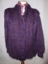 THE GOLD LABEL DESIGNER COLLECTION MOHAIR  KNITTED JACKET SIZE UK M-- FITS UK 14